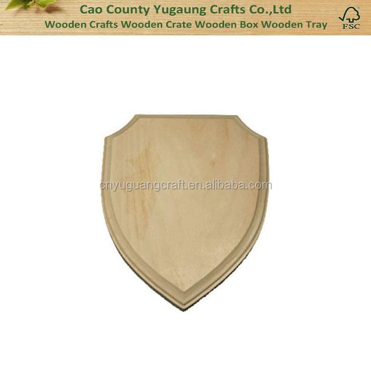 Blank Wooden Plaque,Decorative Wall Plaque,Wooden Shield Plaque ...