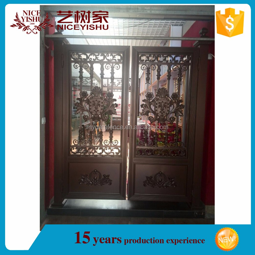 yishujia unique home designs aluminium security door square gate