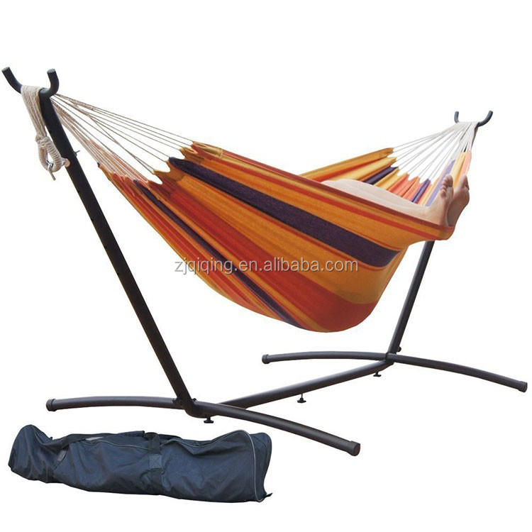 2016 Double Hammock With Space Saving Steel Hammock Stand Includes Portable Carrying Case Outdoor Hammock DF-21-37