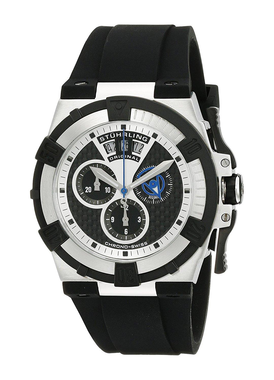 Get Quotations · Stuhrling Original Men s 220.33161 Aviator Falcon Swiss  Quartz Chronograph Date Watch 2ca6cad4b5d
