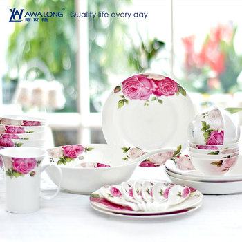 Elegan Porselen Halus Barang Dapur Royal Lengkap Keramik Set