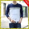 Hot sell o-neck dry fit plain white tight fit long sleeve t-shirts for men