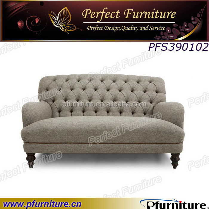 Two seater sofa neo-classical high back sofa for love sofa furniture