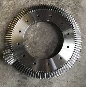 High Precision Large Diameter C45 Steel Material 17 teeth Helical Spur Transmission Gear with keyway for Machines