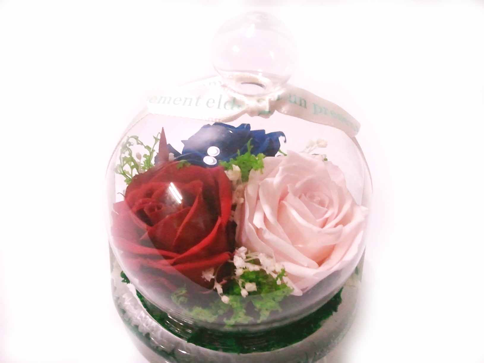 Preserved Flowers In Gl Dome Flower Box Product On Alibaba