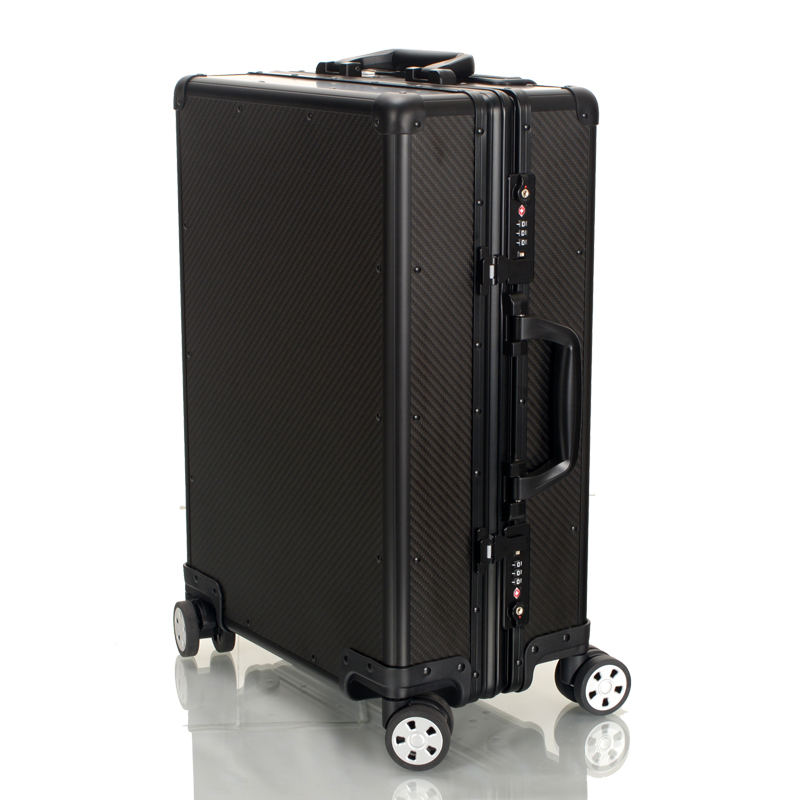 1 Order Wholesale Real Luxury Carbon Fiber Luggage For Men Aluminum Frame Suitcase 20/ 22/ 24 High End Brand Trolley Bag