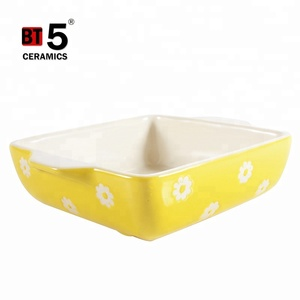 Creative ceramic bakeware rectangle baking pans oven tray for microwave