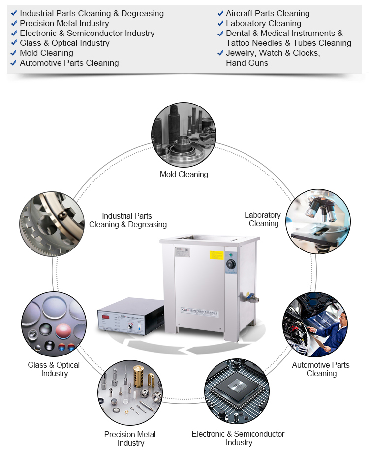 Ultrasonic blind cleaning machine for tubes cleaning