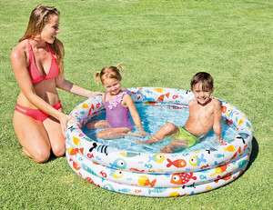 Intex 59469 fishbowl pool set inflatable 3 rings fishbowl swimming pool