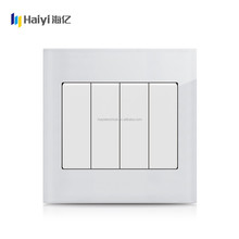 Factory british standard 4 gang residential electric wall switches in uk