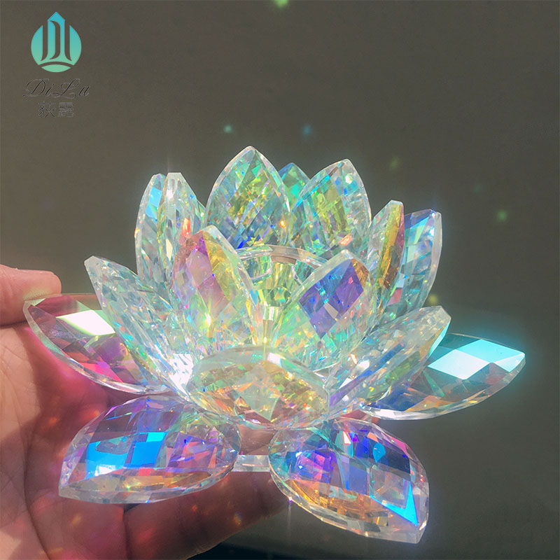 Wholesale Car decoration crystal glass lotus flower perfume glass bottle china