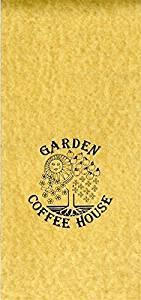 Garden Coffee House Menu Hyatt Regency Hotel 1970's