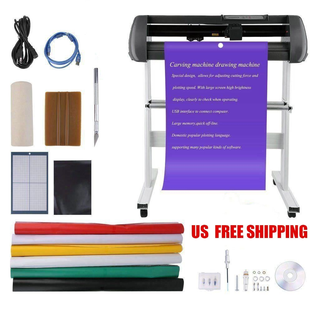 Get quotations · coldcedar vinyl cutter 100 240v 34in bundle kit usb interface vinyl cutter sign decal sticker