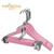 Custom Pink Color Women's Pearl Hook Kids Wooden Hanger For Coat And Trouser