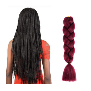 Cheap Wholesale High Temperture Black Women Synthetic Hair Weave Braiding Hair Extensions