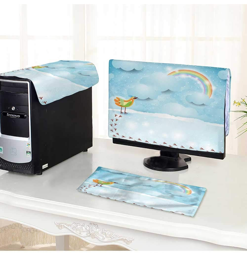 """PRUNUS Computer Cover 3 Pieces Sky Background with Bird,Vector Antistatic, Water Resistant /18"""""""