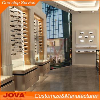 High End Luxury Custom Floor Standing Wooden Optical Shop Furniture Optical  Frame Display Rods For Eyeglass