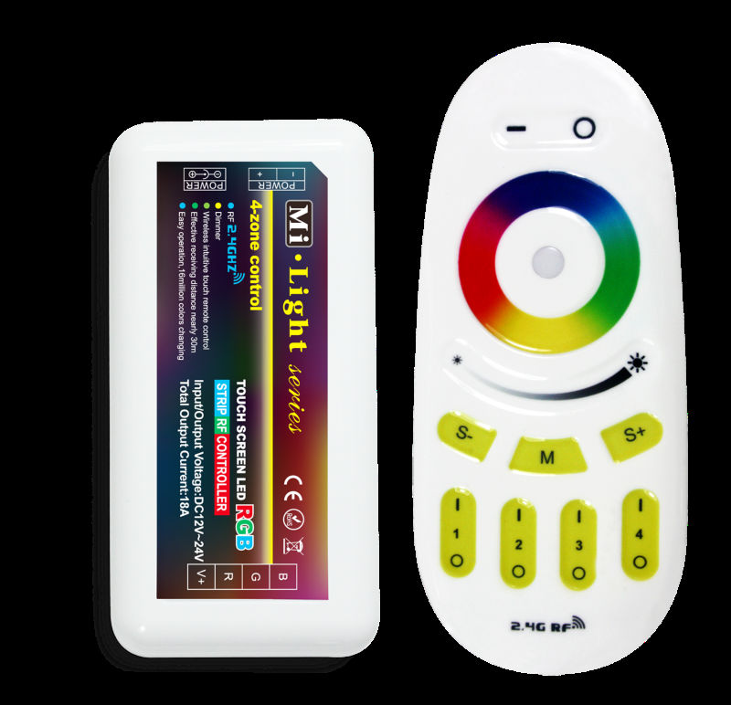 Mi.light 2.4g Led Rgb Strip Rf Controller With Rf Remote-control ...