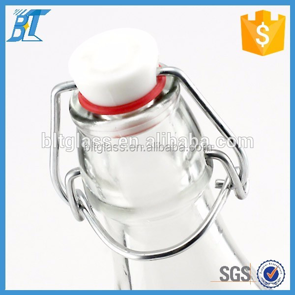 metal swing top lid and plastic stopper for bottle