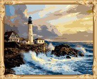GX7682 seascape canvas oil painting by numbers paint kits