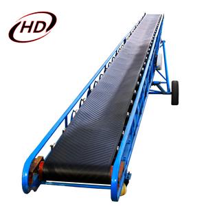 Lifting height adjustable soil trough type belt conveyor for sale