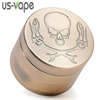 2019 hottest 4-Layer Zinc Alloy Concave-convex Pattern Diameter 52MM Metal Smoke Tool Bronze Smoke herb tobacco Grinder