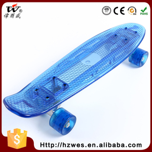 New Products Safety Item 70kgs Top ABC Deck Material OEM Fish Shape Fast Electric Skateboard with LED