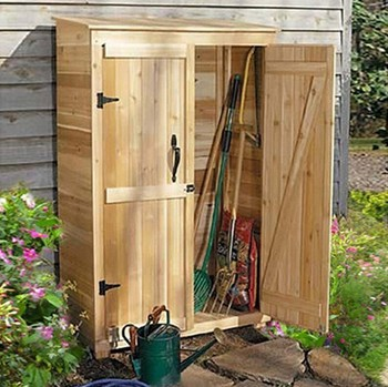 cedar unfinished garden tool house tool shed - Garden Tool Shed