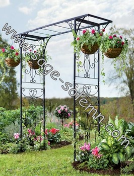 Garden Trellis Arbor Arch Hanging Basket Wire Wrought Iron Arches Product On Alibaba