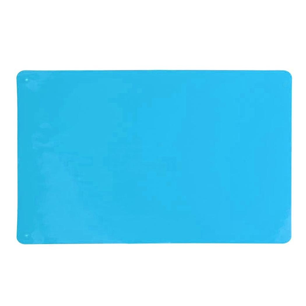 Binmer(TM)40x30cm Better Heat Resistant Hot Pads Cooking Liner Silicone Pad Mat Table Bakeware Insulation Non-slip Mat (Light Blue)