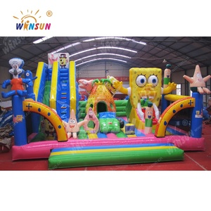 Hot newest design custom popular used largest inflatable fun city for adults