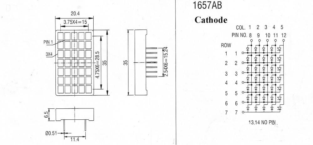 indoor led display module led matrix p4 75 square yellow 5x7 led matrix