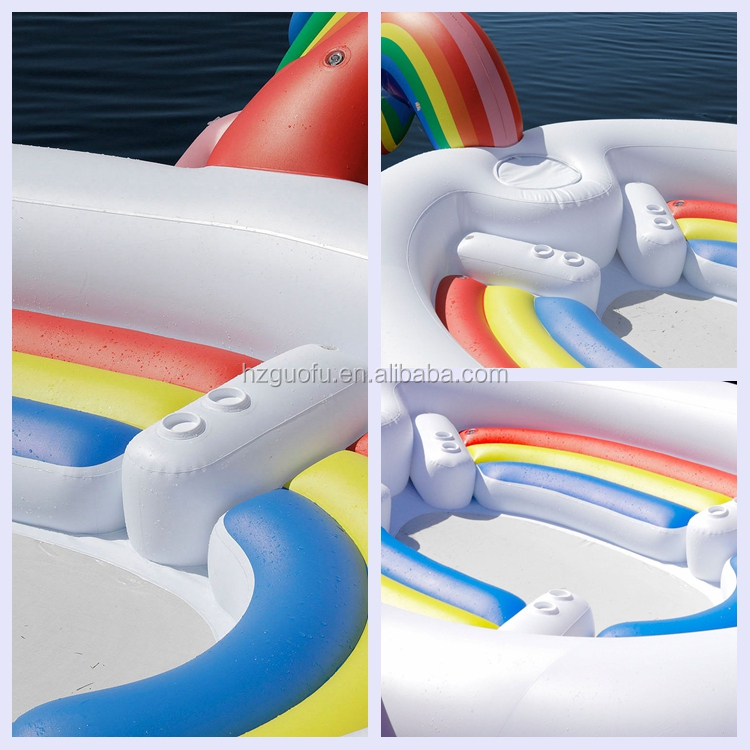 Huge 6 Person Inflatable Unicorn Pool Float or Lounge For Water Party