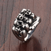 Fashion stainless steel Fist Skulls ring jewelry wholesale hip hop jewelry