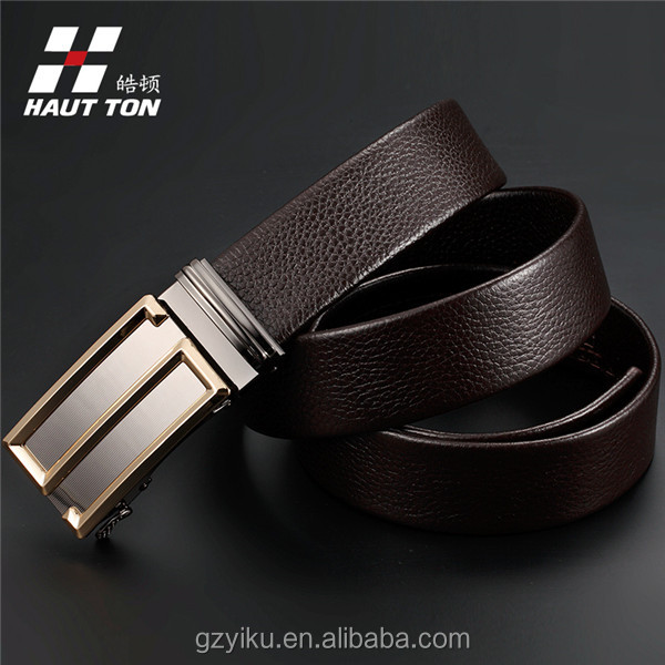 real leather automatic buckle belt
