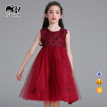 3eefeed3ed2d Wine Red Baby Frock Kids Summer Frock Hot Selling Children Dress For ...
