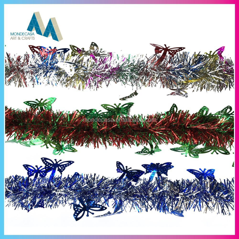 Factory sale tinsel garland for christmas