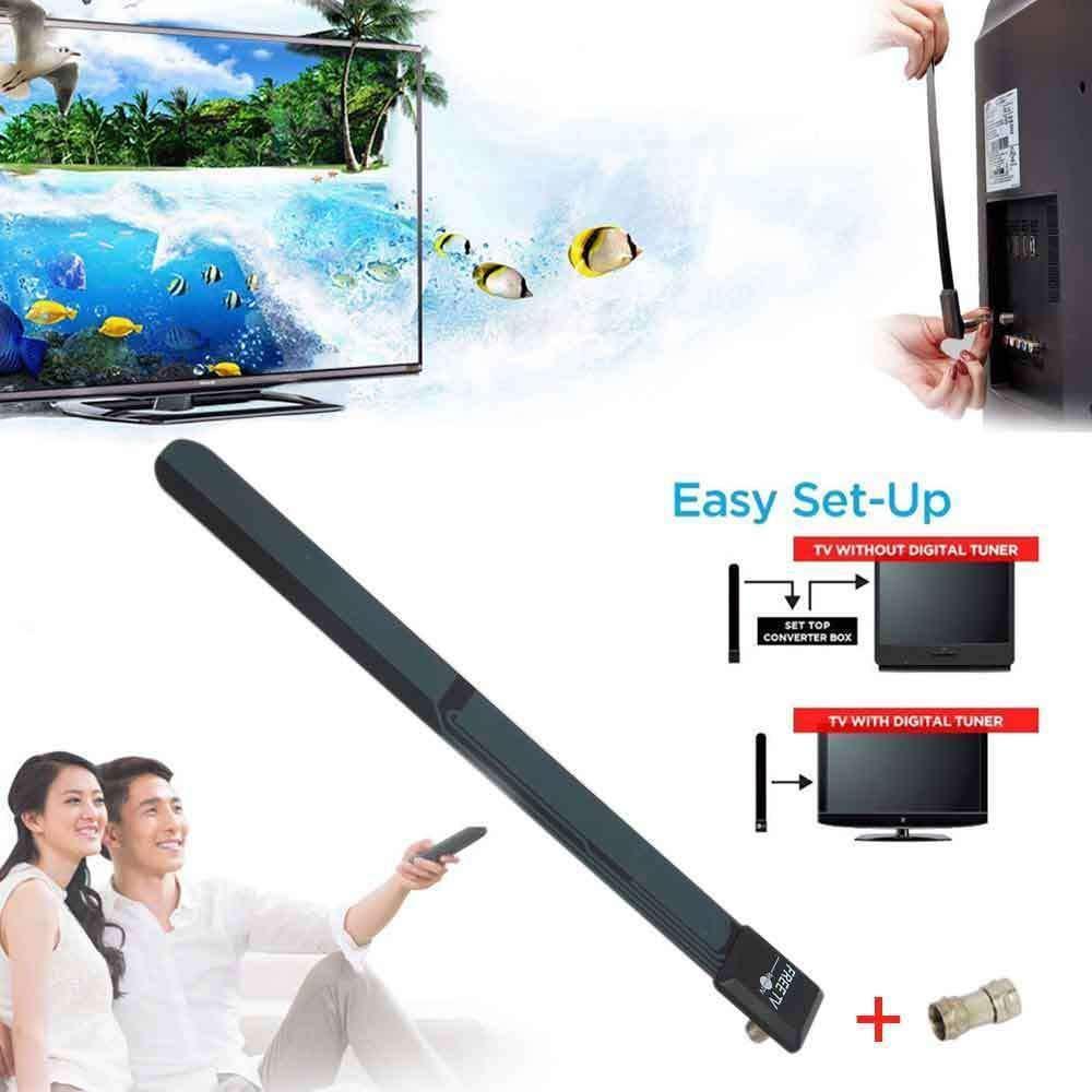 FidgetFidget TV Antenna Clear TV Key Indoor 480p-1080p HDTV HD Easy to Install W6Q4K