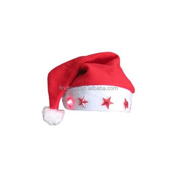 led flashing christmas hat santa cap five star light up christmas santa hat