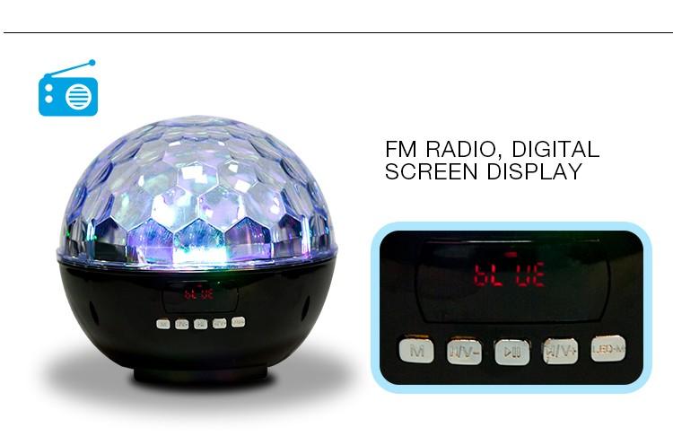 Dreamy colors disco light bluetooth speaker