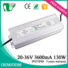 36V output 3600ma constant current waterproof led driver for outdoor led light power supply