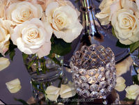 C635 wine bottle glass candle holder wedding centerpiece