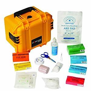 North Waterproof Marine First Aid Kit, Small, Yellow, Plastic,
