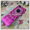 Brushed aluminium case cover fits iphone 5,fashion spider web plastic case for iphone5