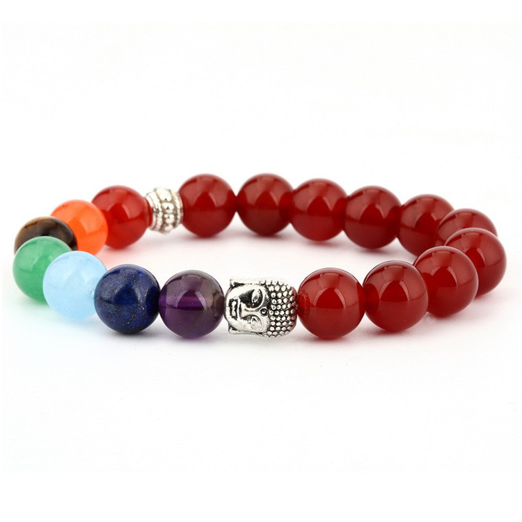 Wholesale Men 8mm Natural Stone Beads Charms Buddha Bracelet Yoga Jewelry jade jewelry buddha bracelet