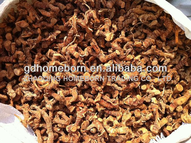 Fresh galangal root dried