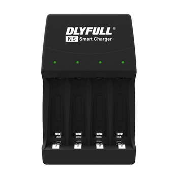 Dlyfull 4 slot N5 wall plug charger 1.2V Ni-Mh aa aaa battery charger and 1.5v alkaline dry cell battery charger