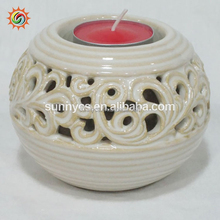High quality antique decorations holder jar menorah low holders ceramic candle warmer