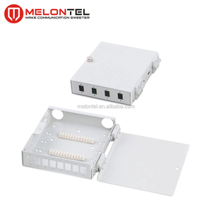 MT-1021 Wall mount type fully loaded 4 8 core Indoor metal fiber optical LC adaptor pigtail FTTH distribution box