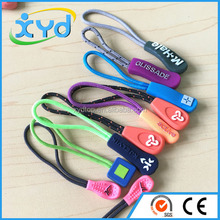 Strong customized Logo Plastic Zipper Puller